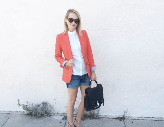 How to style denim shorts from day to night