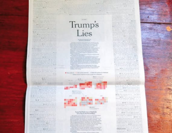 NYT prints 'Trump's lies' since taking office