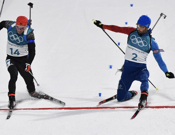 Biathlete clinches gold in nail-biter of a finish