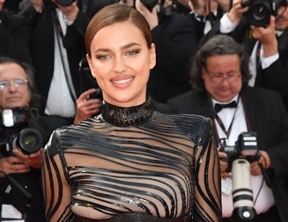 Irina Shayk rocks two see-through gowns at Cannes