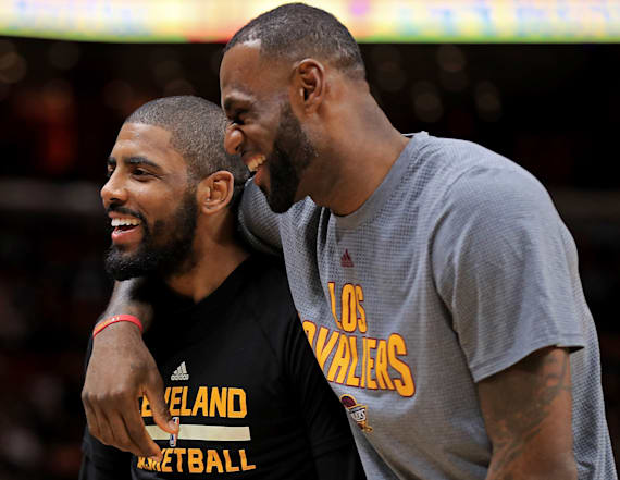 Kyrie on talking to LeBron: 'Why would I have to?'