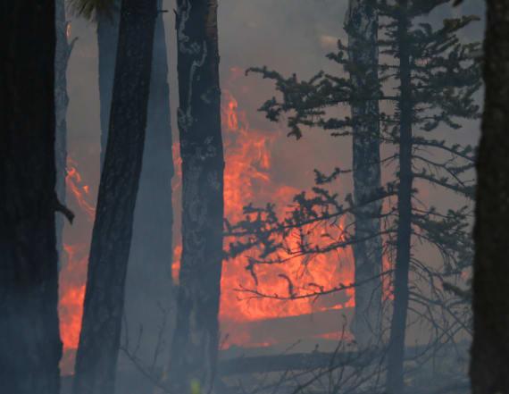 Wildfire near ski resort forces mass evacuations