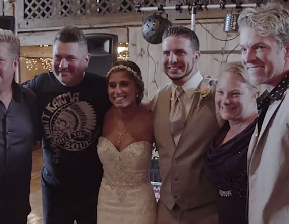 Rascal Flatts amazingly surprises bride and groom