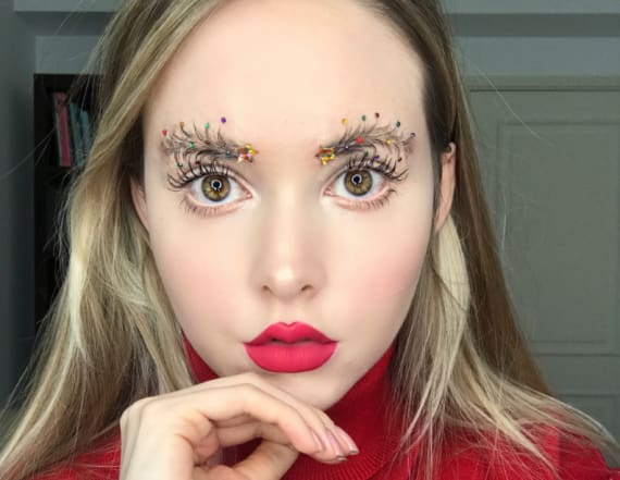 Christmas tree eyebrows have come to town