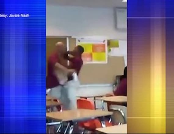 Teen arrested after punching teacher in the head