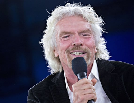 Sir Richard Branson shows off his Spanx