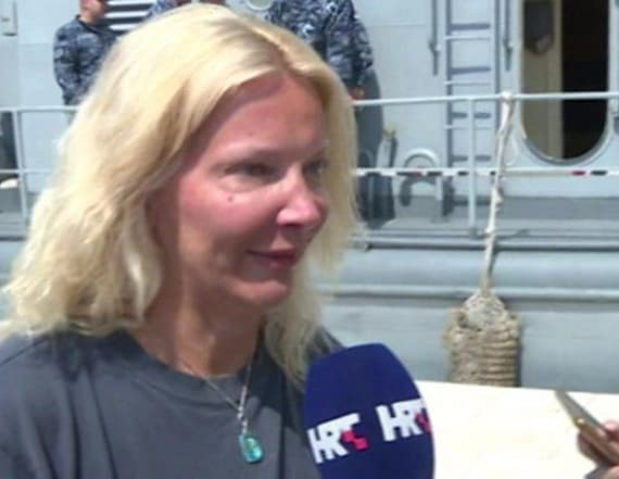 Woman saved 10 hours after falling from cruise ship
