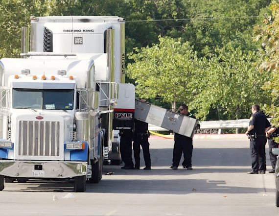 Driver charged after dead discovered in Texas truck