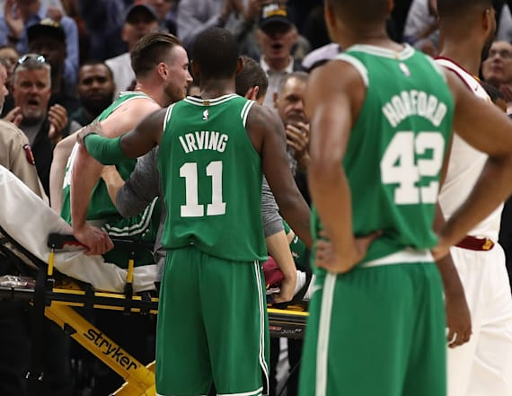 Athletes offer support after Hayward's injury