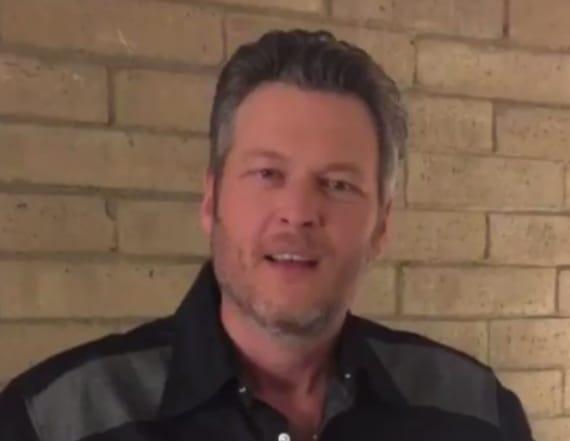 Blake Shelton trolls Luke Bryan