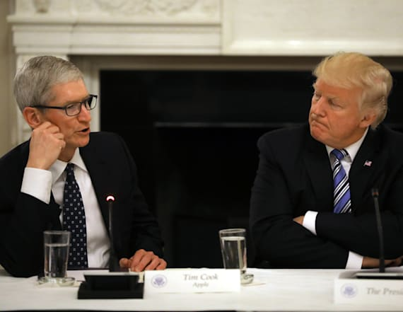 Tim Cook is trying to get Trump to back off China