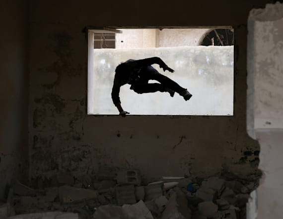 Struggling youth find freedom from war with Parkour