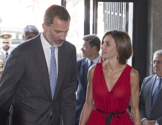 Queen Letizia of Spain looks lovely in red