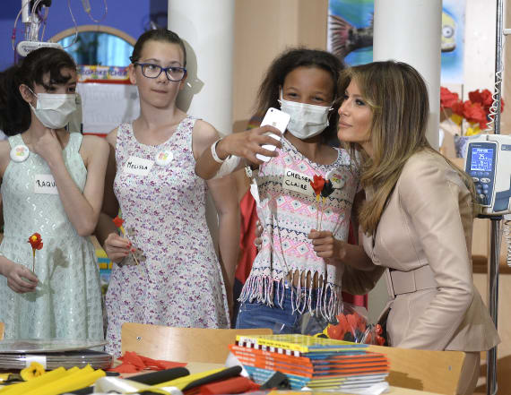 First lady leaves president behind to visit hospital