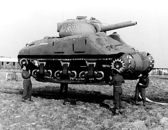 Inflatable dummy tanks were critical in early wars