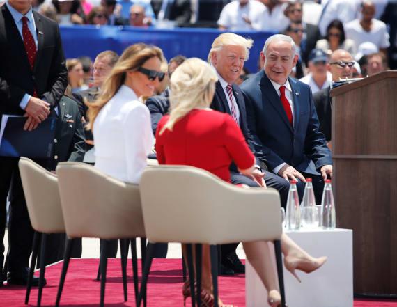 Trump, Netanyahu's wife lament press on hot mic