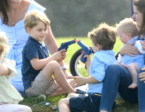 Kate slammed for letting George play with toy guns