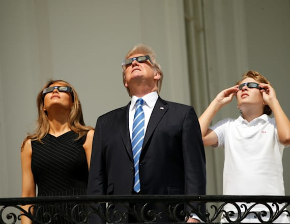 Trump family views the Great American Eclipse