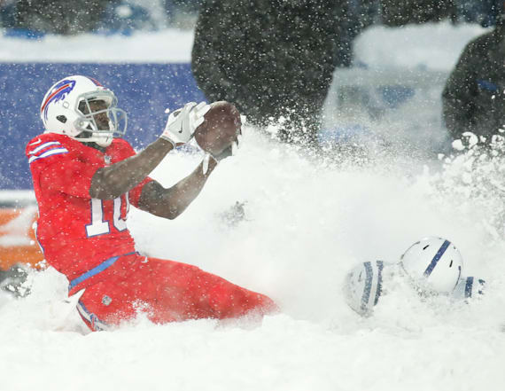 Buffalo Bills beat Colts in snowy 'Blizzard Bowl'