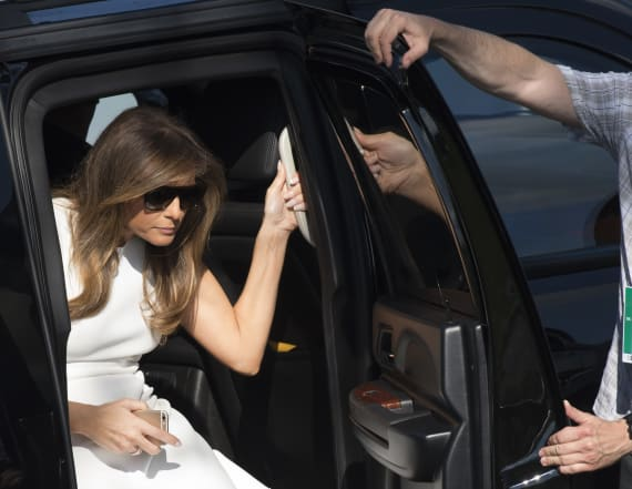 Melania Trump stuns at the US Women's Open