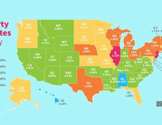 How much Americans pay in taxes in every state