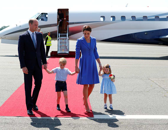 William breaks protocol by flying with his kids