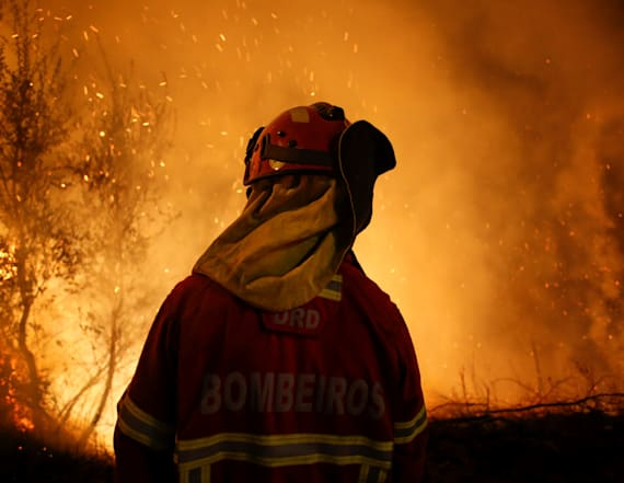 Deadly wildfires ravage Portugal and Spain