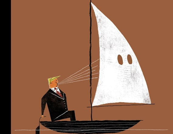 New Yorker cover shows Trump powering KKK sailboat