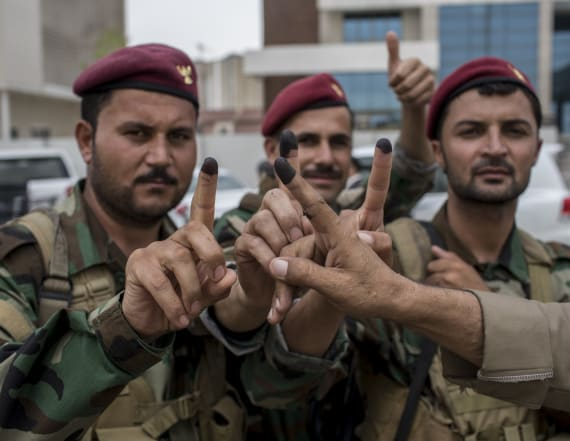 Iraqi Kurds vote in an independence referendum