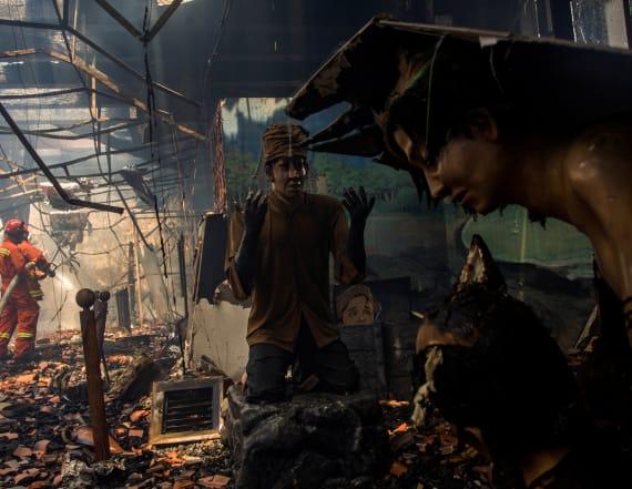Maritime Museum razed by fire in Jakarta