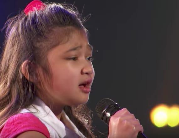 9-year-old singer gets Golden Buzzer