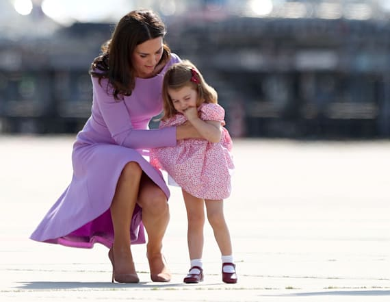 Princess Charlotte takes a tumble on royal tour