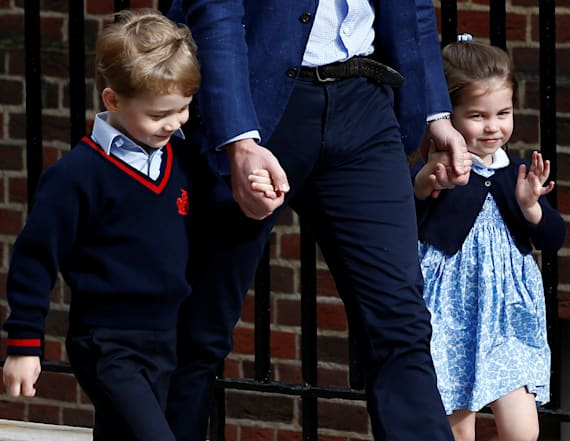George and Charlotte share sweet moment at hospital