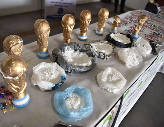 Police seize cocaine hidden in World Cup trophies