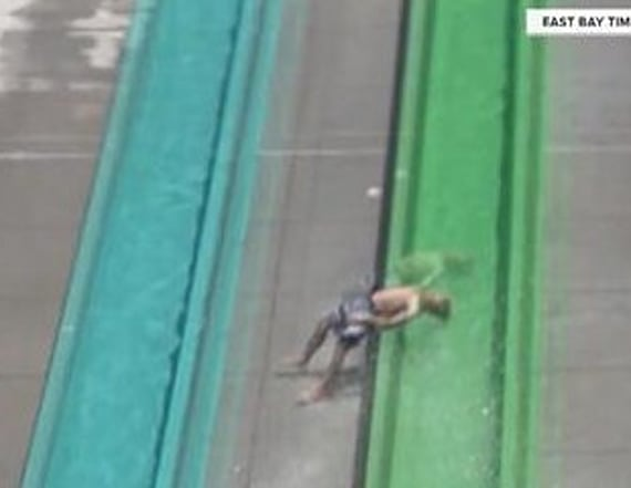 Young boy thrown from brand new waterslide