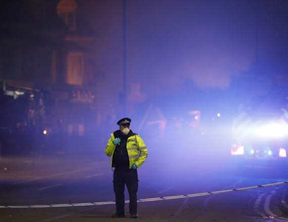 Blast destroys shop and home in English city