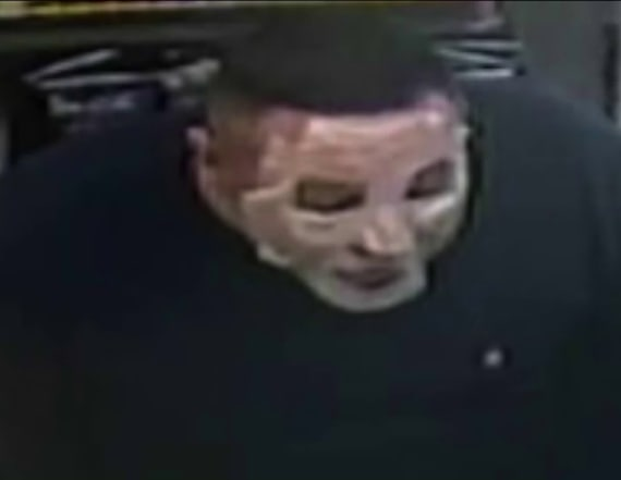 Man wears cosmetic mask during string of robberies
