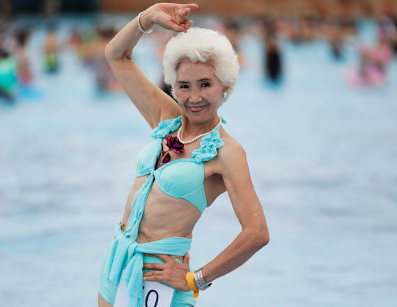 Bikini contest only allows contestants older than 55