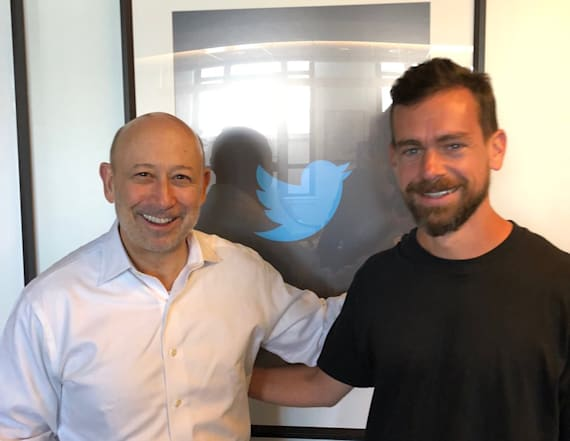 Tweet of Goldman CEO and Jack Dorsey fueling rumors