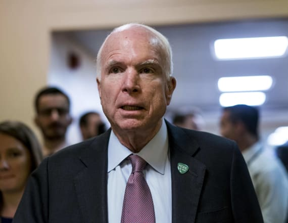 McCain reveals he has a 'very poor prognosis'
