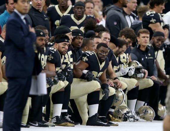 Fan suing NFL team over national anthem protests