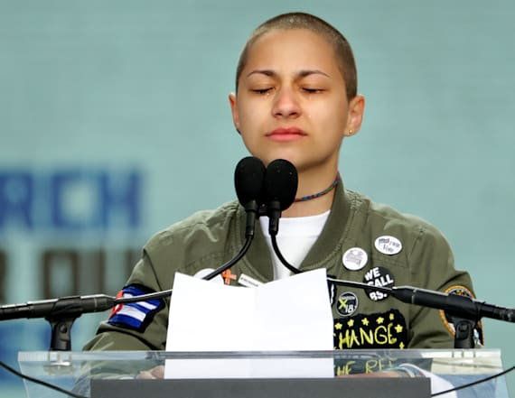 Parkland survivor holds 6 minute silence at march