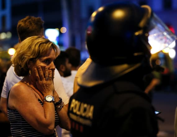 2 arrested after van mows down crowd in Barcelona