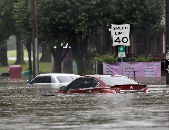 Gulf Coast inundated with month worth of rain in day