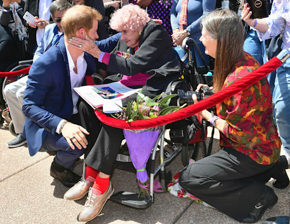 Harry introduces Meghan to his 98-year-old superfan