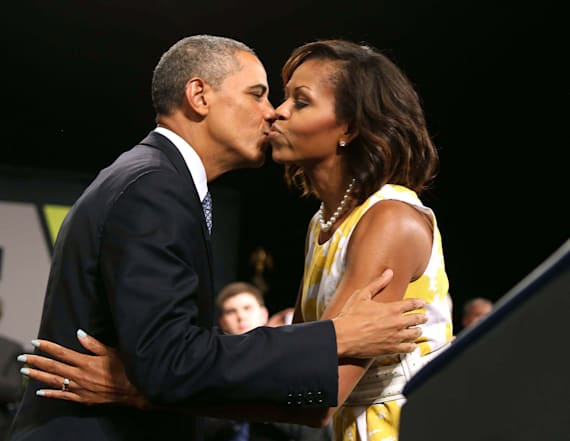 Michelle opens up about her first kiss with Barack