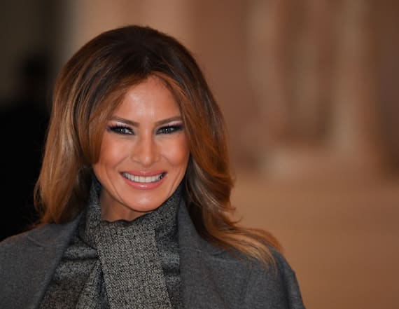 Melania Trump wore a tuxedo in Paris