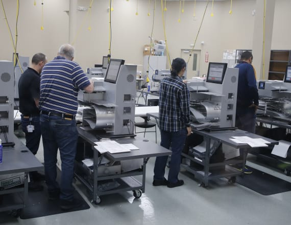 Overheating machines complicate Fla. recount battle