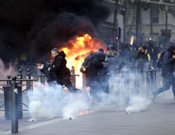 Trump blames Paris riots on 'ridiculous' agreement