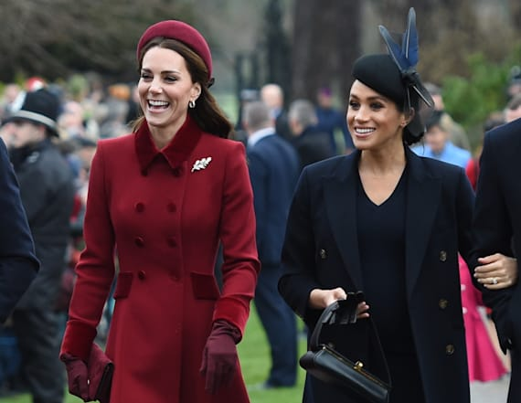 Duchesses Kate and Meghan attend Christmas services